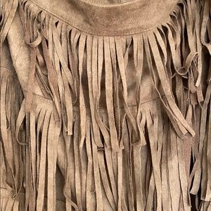Skirts - New with Tags Faux Suede Fringe Skirt